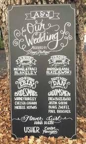 wedding program chalkboard chalkboard wedding poster our story program digital or