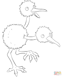 doduo coloring free printable coloring pages
