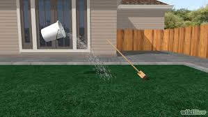 Turf For Backyard by How To Install A Synthetic Grass Lawn 14 Steps With Pictures