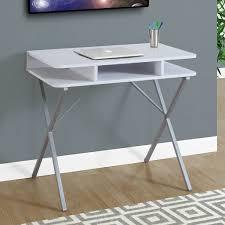 bonvivo designer desk massimo amazon com monarch computer desk white silver 31