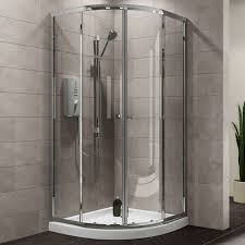 plumbsure quadrant shower enclosure with double sliding doors w