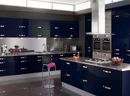 Black Gloss Kitchen Cabinets Wood Backsplash Blue Wooden Kitchen Cabinet Golden Stained