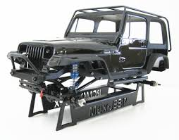 jeep yj rock crawler scale accesories parking mount steel stand for mex jeep yj