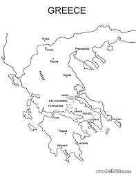 Greek Map Coloring Map Of Greece You Can See A Map Of Many Places On The