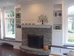Bookcase Fireplace Designs Best 25 Fireplace Between Windows Ideas On Pinterest Fireplace