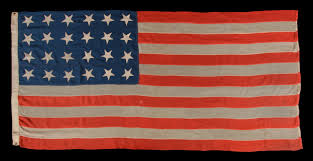American Flag Regulations Jeff Bridgman Antique Flags And Painted Furniture 24 Stars And