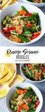 orange sesame noodles with vegetables the little kitchen
