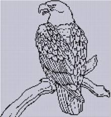 bee designs eagle 6 cross stitch pattern