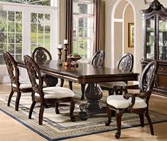 dining room furniture sets 7pc formal dining table chairs set with claw design