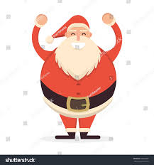 santa claus standing his hands up stock vector 509870080