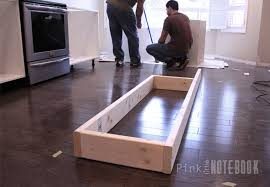 Installing A Kitchen Island Kitchen Island Installation Creating An Ikea Pink