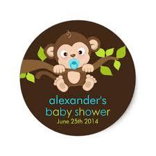 monkey boy baby shower monkey boy baby shower sticker zazzle
