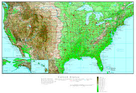 United States Of America Maps by United States Elevation Map