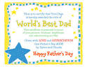 World's Best Dad Printable Certificate | Blue Mountain
