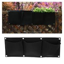 2017 3 pockets hanging horizontal garden wall planter bag indoor