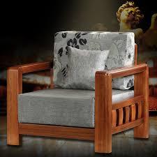 canapé en bois canapé en tissu 1 place gris avec support en bois