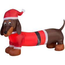 Outdoor Christmas Decorations Inflatables by Holiday Time 4ft Weiner Dog Inflatable Walmart Com
