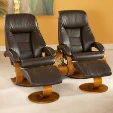recliner with ottoman leather modern house plan and ottoman