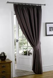 Black Eyelet Curtains 66 X 90 Thermal Blackout Curtains Eyelet Ring Top Or Pencil Pleat Free Tie