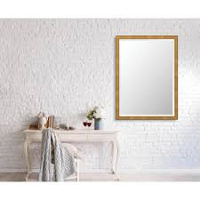 Bevelled Floor Mirror by Lira Brass Framed Mirror Small Rectangular By Domino Havenly
