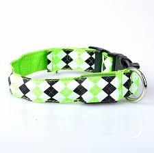 light up collar amazon led light up dog leash flashing glow in the dark led nylon perros