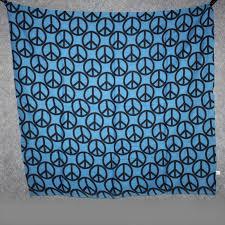 Blau Schwarz Muster Baumwolltuch 皸 Peace Muster 10 Cm Blau Schwarz 皸 Quadratische
