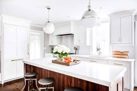 natural walnut kitchen island in summit new jersey