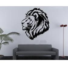 aliexpress com buy bedroom decor vivid lion head totem wall