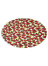 Round Flower Rug by Amazon Com Patterned Fitted Vinyl Tablecloths Home U0026 Kitchen