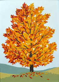 fall tree the chicken