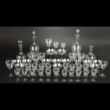 louis bicchieri louis bicchieri di cristallo incisi foglie di palma modelli