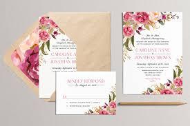 sale printable floral wedding invitation modern by plpapers