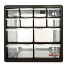 multi compartment 12 drawer organiser cabinet garage home diy tool