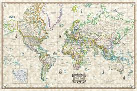 Antique World Map by Amazon Com Antique World Wall Map Old World Style Poster Size