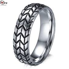 tire wedding rings nfs 6mm men s tire ring vintage stainless steel wedding rings for