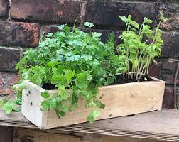 herbs planter herb planter reclaimed wood box for herbs garden decor