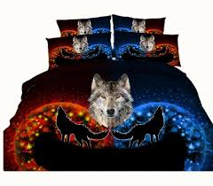 Duvet In Washing Machine 3 Styles Blue Galaxy Wolf 3d Printed Bedding Sets Twin Full Queen