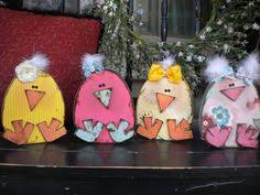 Mini Wooden Easter Decorations by Easter Block Set Easter Holiday Wood Sign 2x4 Wooden Bunny Easter