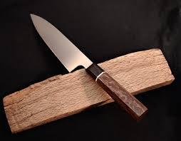 sold 52100 carbon steel 200 mm gyuto red oak ebony
