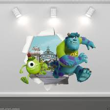 monsters inc mike sulley full colour wall sticker disney bedroom monsters inc mike sulley full colour wall sticker disney bedroom decal mural