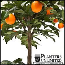4 5 artificial orange fruit topiary