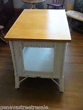 White Wicker Desk by Heywood Wakefield Wicker Antiques Ebay