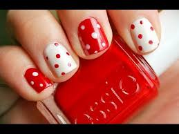 red nail art designs for short nails best 2016 youtube