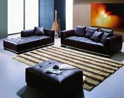 Blue Leather Chair And Ottoman Furniture Modern Living Room Furniture Design With Elegant Cheap