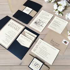 navy and champagne wedding invitations navy and tan wedding