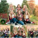 winter senior model session christmas tree farm hartsburg