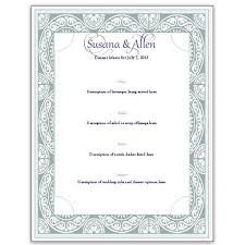 Wedding Menu Template Download A Free Wedding Menu Card Template Diy And Save Money