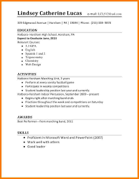 first resume templates student cv template no work experience