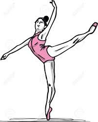 sketch of ballet dancer illustration royalty free cliparts