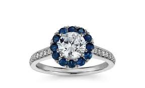 sapphire halo engagement rings wedding rings vera wang collection sapphire engagement ring
